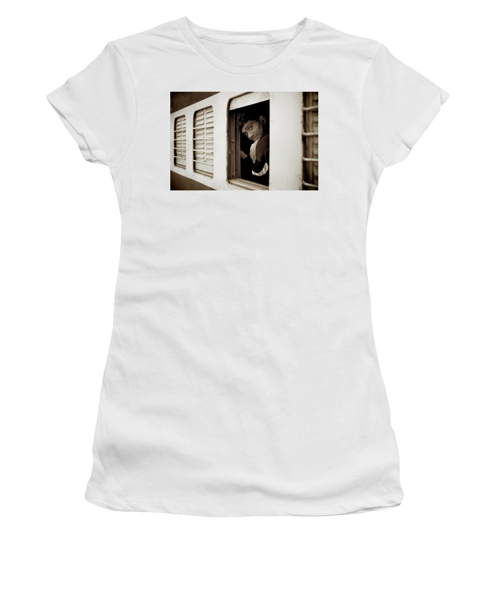 People Women's T-Shirt (Athletic Fit) featuring the photograph Take Care by Valerie Rosen
