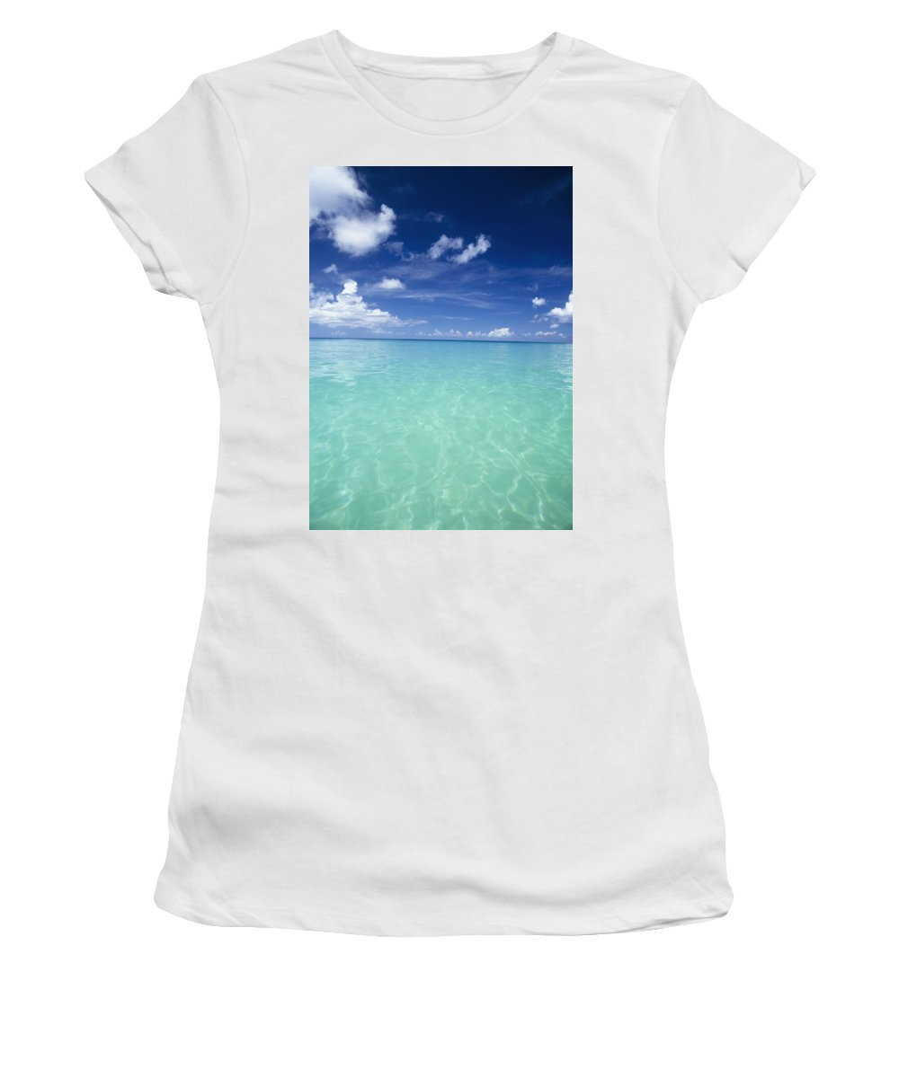 Water Women's T-Shirt (Athletic Fit) featuring the photograph Waters Off The West Coast by Axiom Photographic
