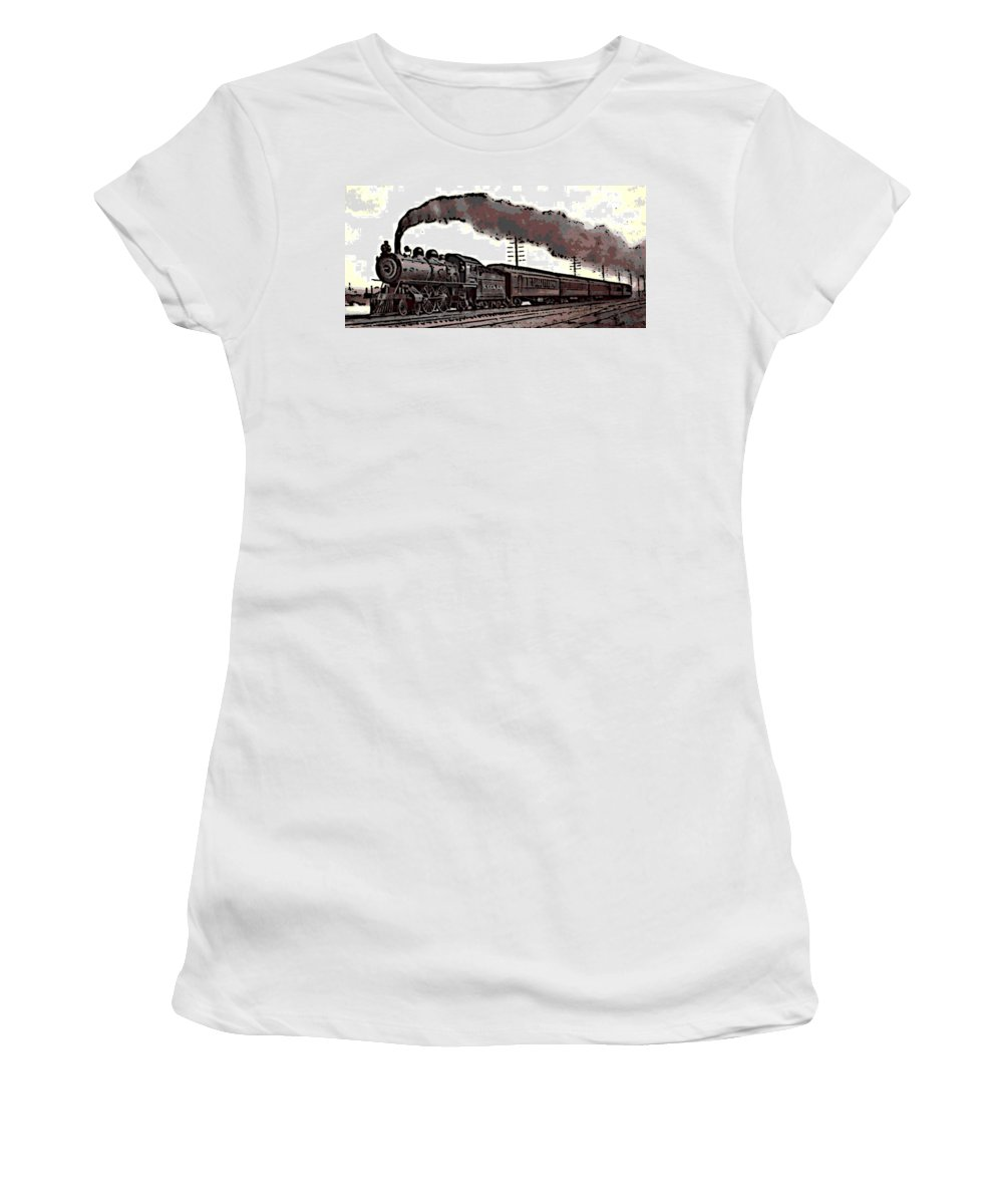 1800 S Steam Train Women S T Shirt For Sale By George Pedro