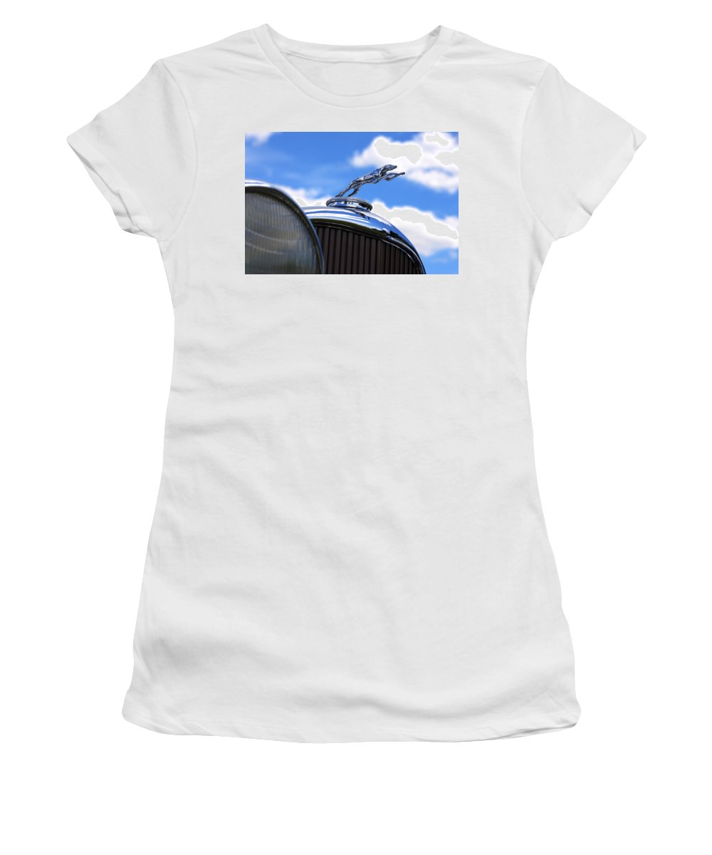 1932 Women's T-Shirt (Athletic Fit) featuring the photograph 1932 Lincoln Kb Brunn Phaeton by Gordon Dean II