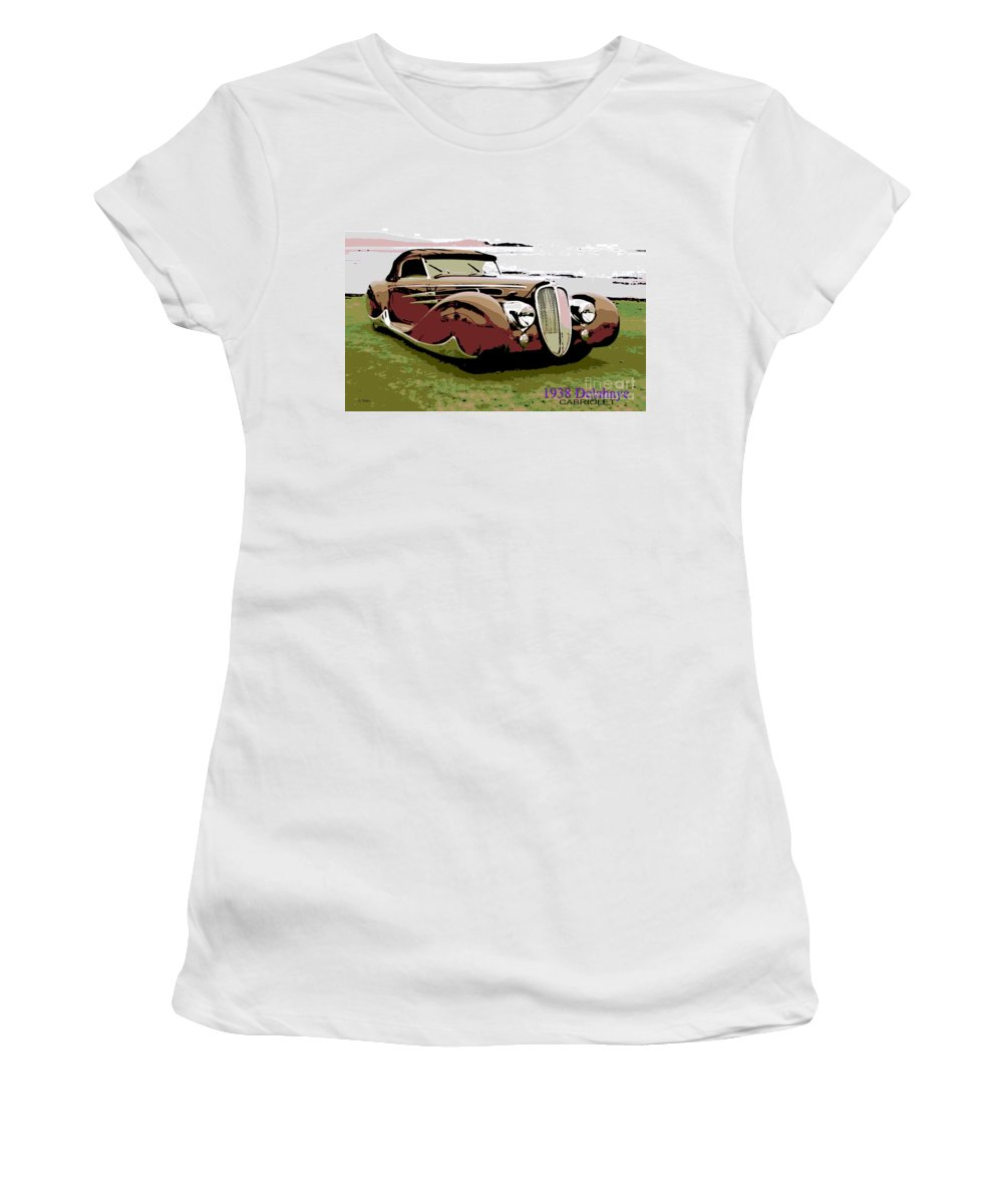 1938 Women's T-Shirt (Athletic Fit) featuring the photograph 1938 Delahaye Cabriolet by George Pedro