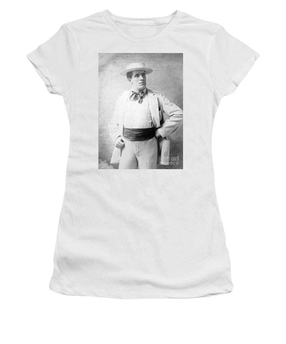 1893 Women's T-Shirt featuring the photograph James J. Corbett by Granger