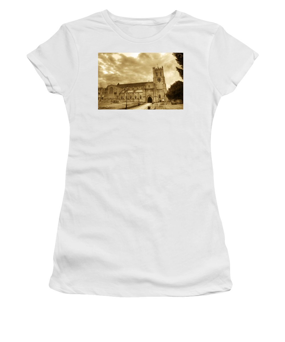 Christchurch Women's T-Shirt (Athletic Fit) featuring the photograph The Priory by Chris Day