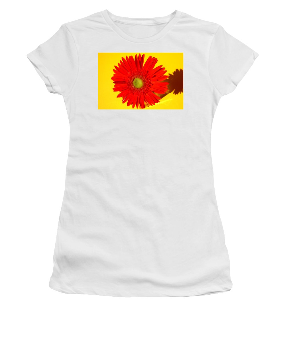 Gerbera Photographs Women's T-Shirt (Athletic Fit) featuring the photograph 2024a1-001 by Kimberlie Gerner