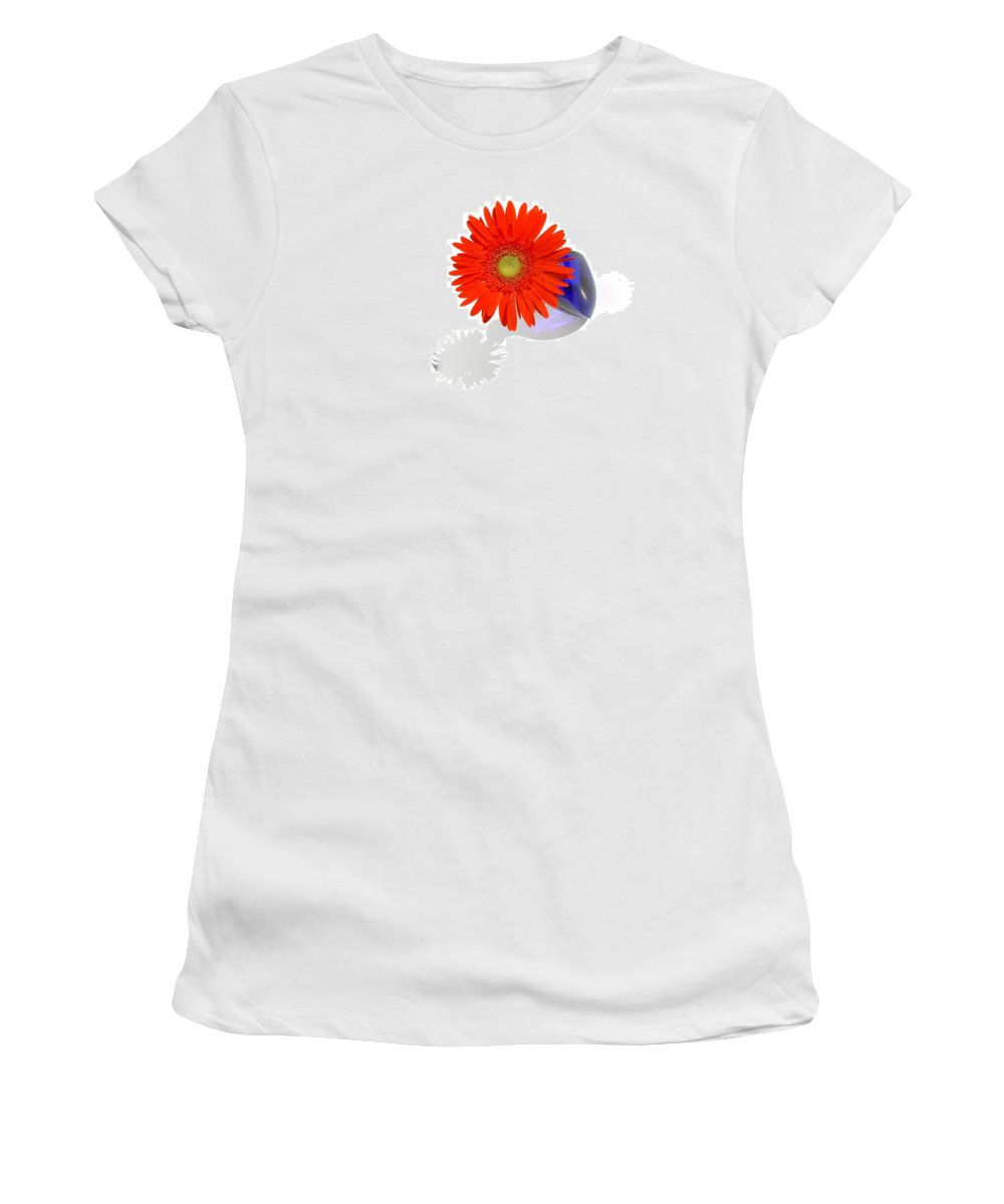 Gerbera Photographs Women's T-Shirt (Athletic Fit) featuring the photograph 2029a3 by Kimberlie Gerner