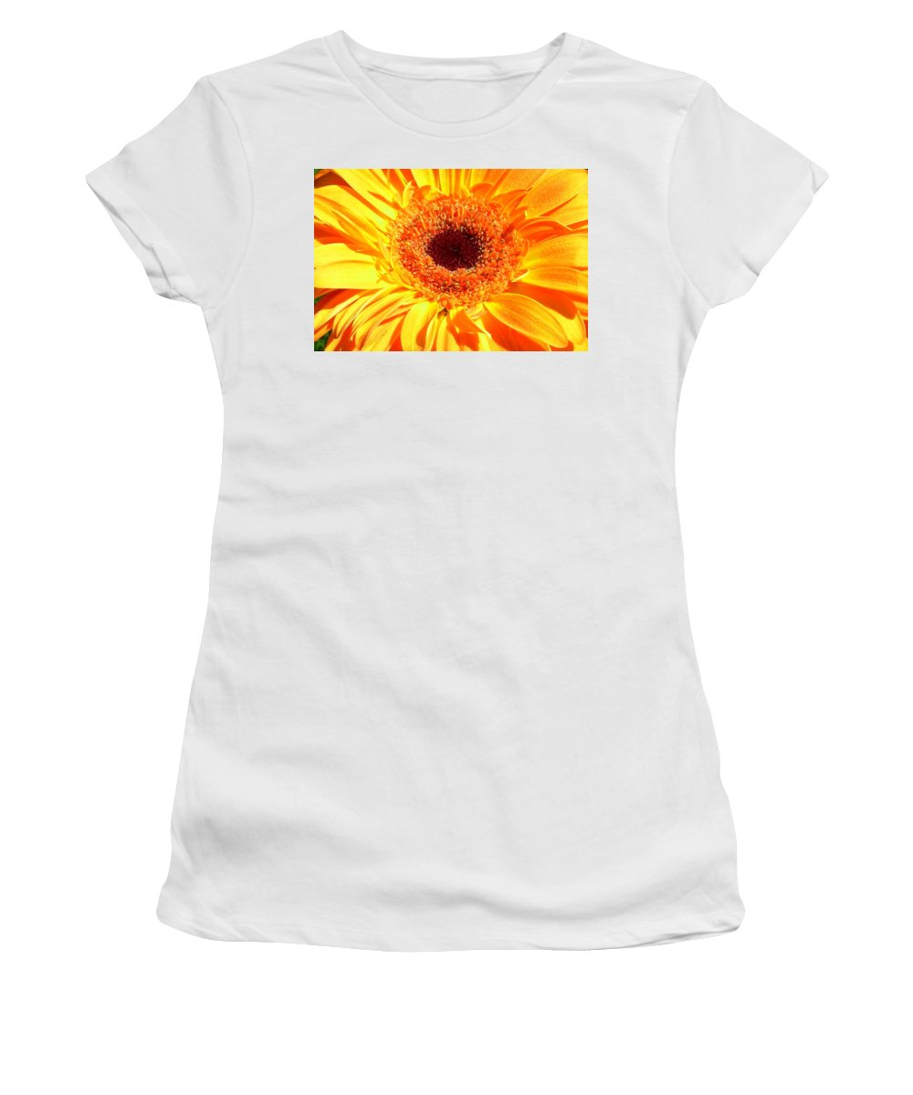Gerbera Photographs Photographs Photographs Women's T-Shirt (Athletic Fit) featuring the photograph 3410-008 by Kimberlie Gerner