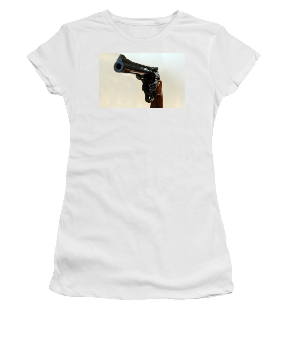 Weapon Women's T-Shirt (Athletic Fit) featuring the photograph 357 Mag by Skip Willits