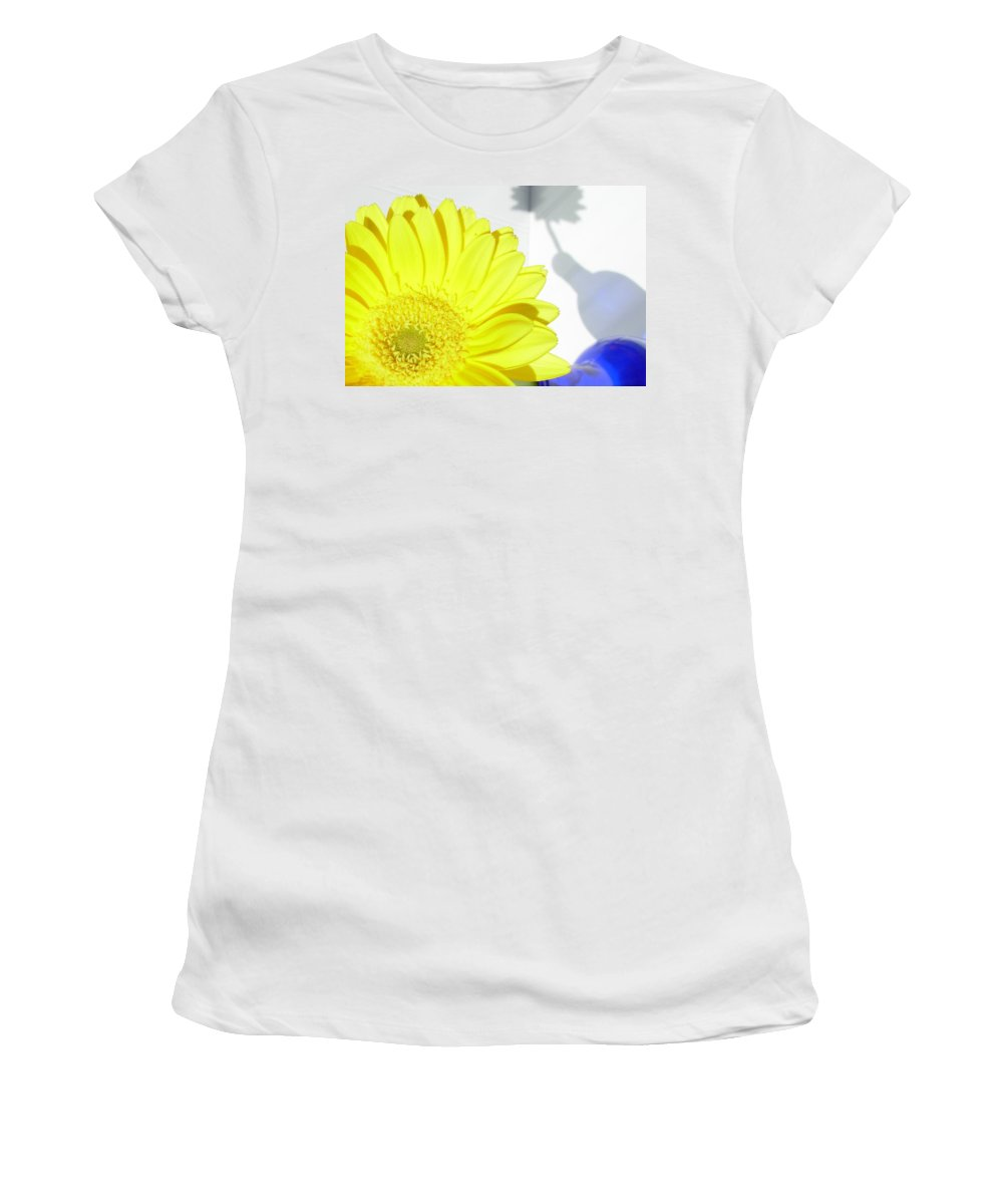 Gerbera Photographs Photographs Photographs Women's T-Shirt (Athletic Fit) featuring the photograph 3764-001 by Kimberlie Gerner