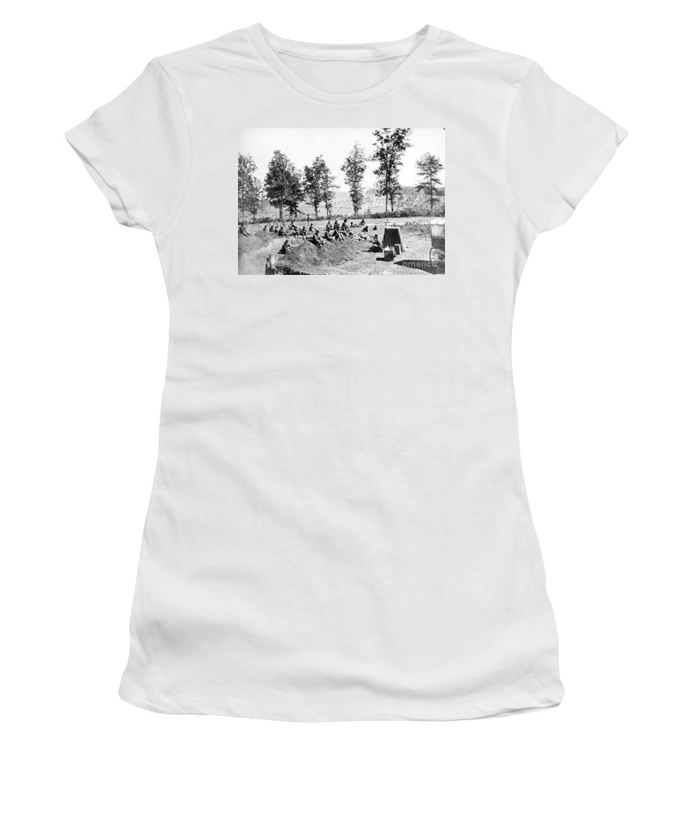 1860s Women's T-Shirt featuring the photograph Civil War: Soldiers by Granger
