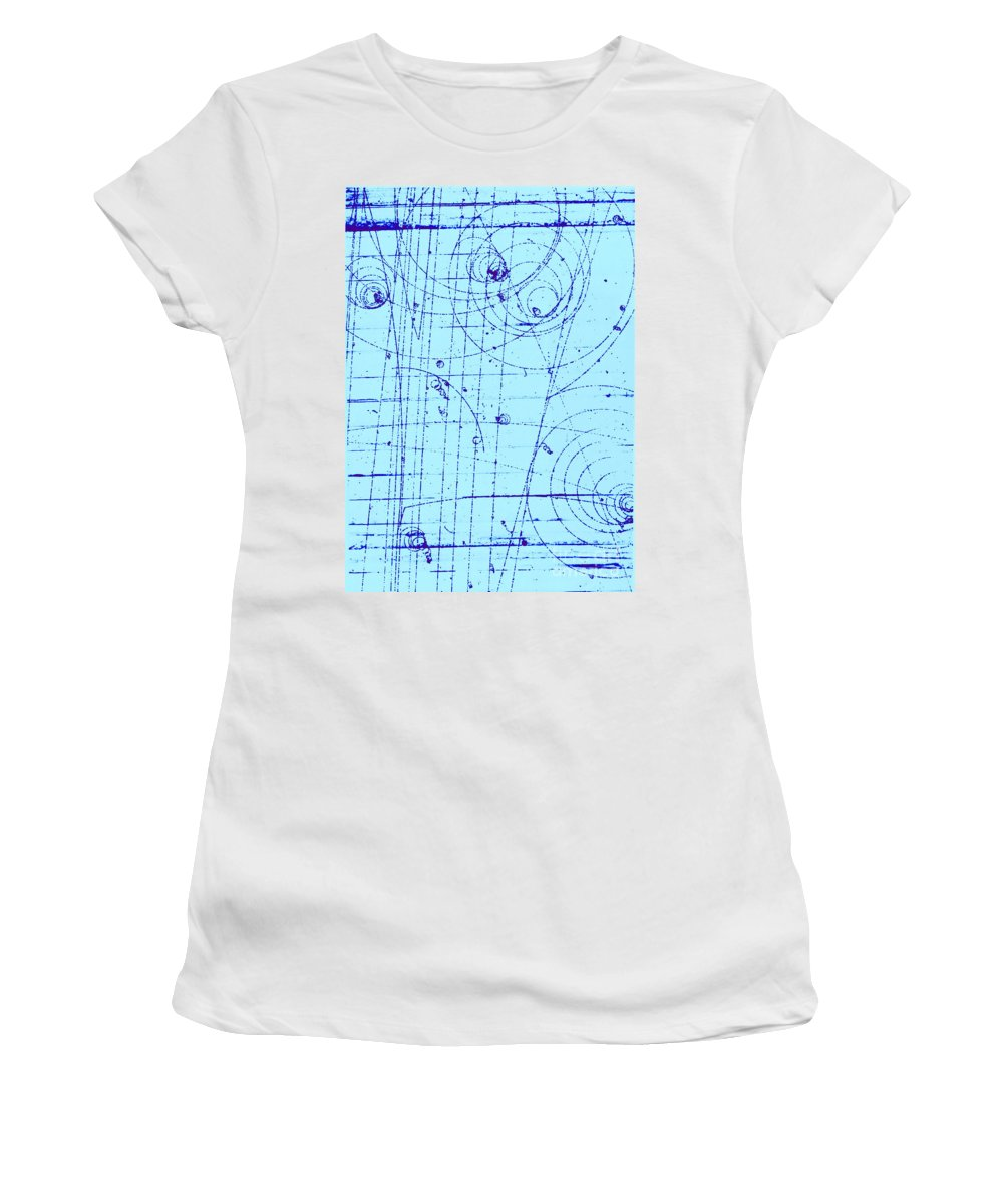 History Women's T-Shirt featuring the photograph Omega-minus Particle, First Observation by Omikron