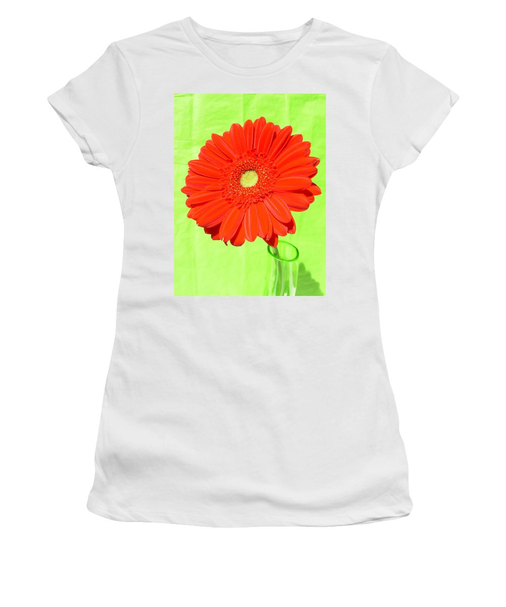 Gerbera Photographs Photographs Photographs Women's T-Shirt (Athletic Fit) featuring the photograph 4005 by Kimberlie Gerner
