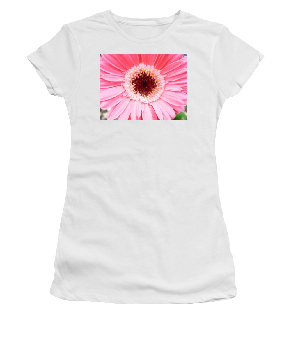 Gerbera Photographs Photographs Photographs Women's T-Shirt (Athletic Fit) featuring the photograph 4252-1 by Kimberlie Gerner