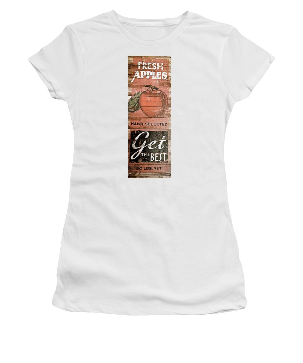 50 Pounds Of Apples Women's T-Shirt (Athletic Fit) featuring the photograph 50 Pounds Of Apples by Bill Owen