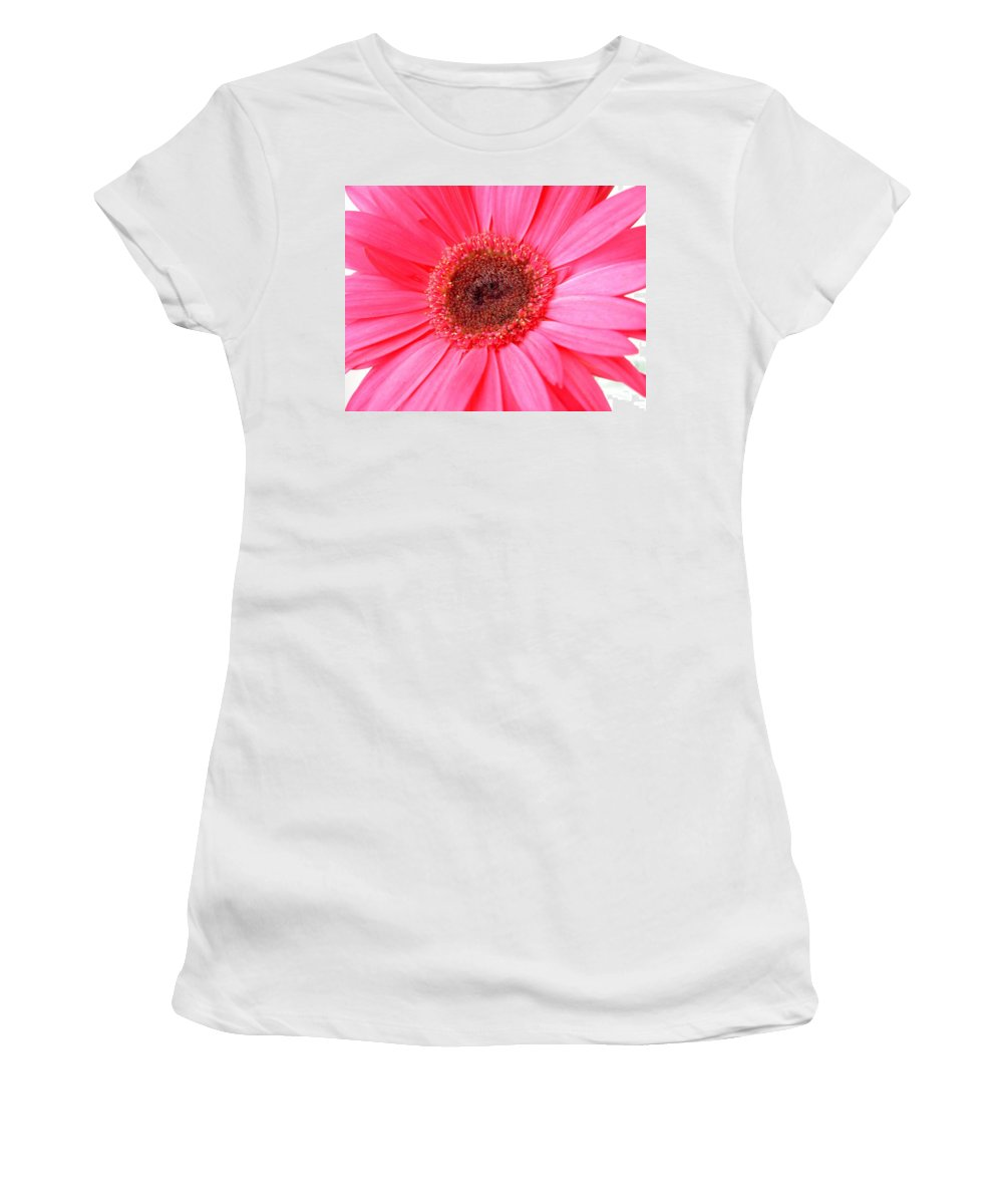 Gerbera Photographs Photographs Photographs Women's T-Shirt (Athletic Fit) featuring the photograph 5540c by Kimberlie Gerner