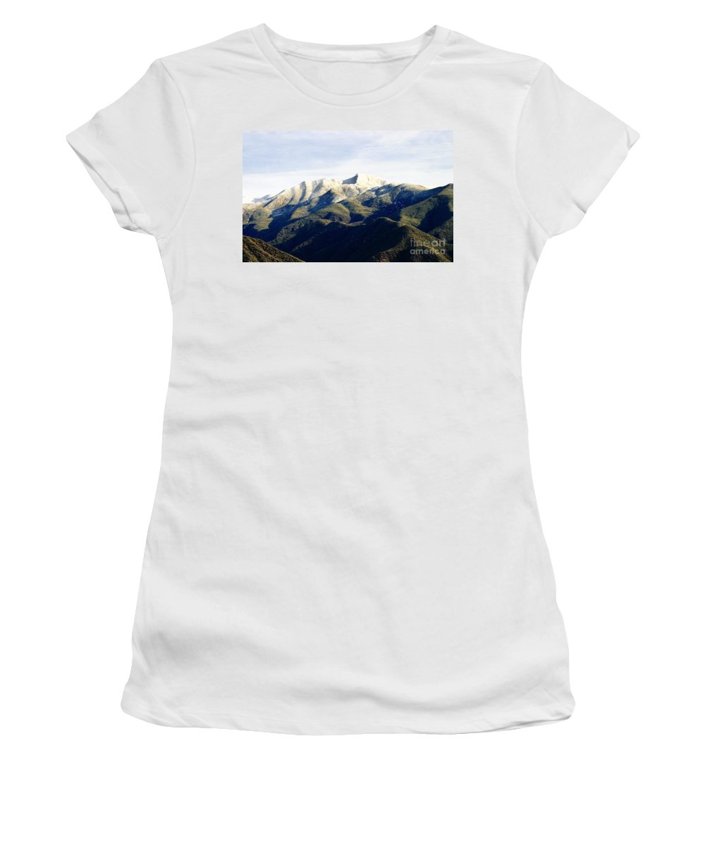 Nature Women's T-Shirt featuring the photograph Ojai Valley With Snow by Henrik Lehnerer