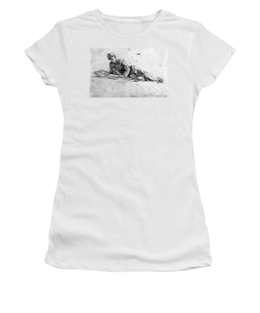 1863 Women's T-Shirt featuring the photograph Civil War: Soldier by Granger