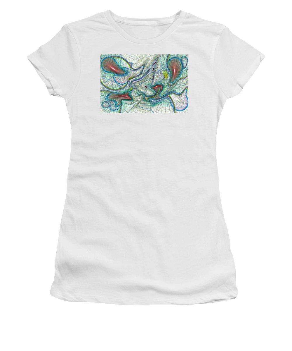 Art Women's T-Shirt featuring the digital art Abstract Pattern Art by David Pyatt
