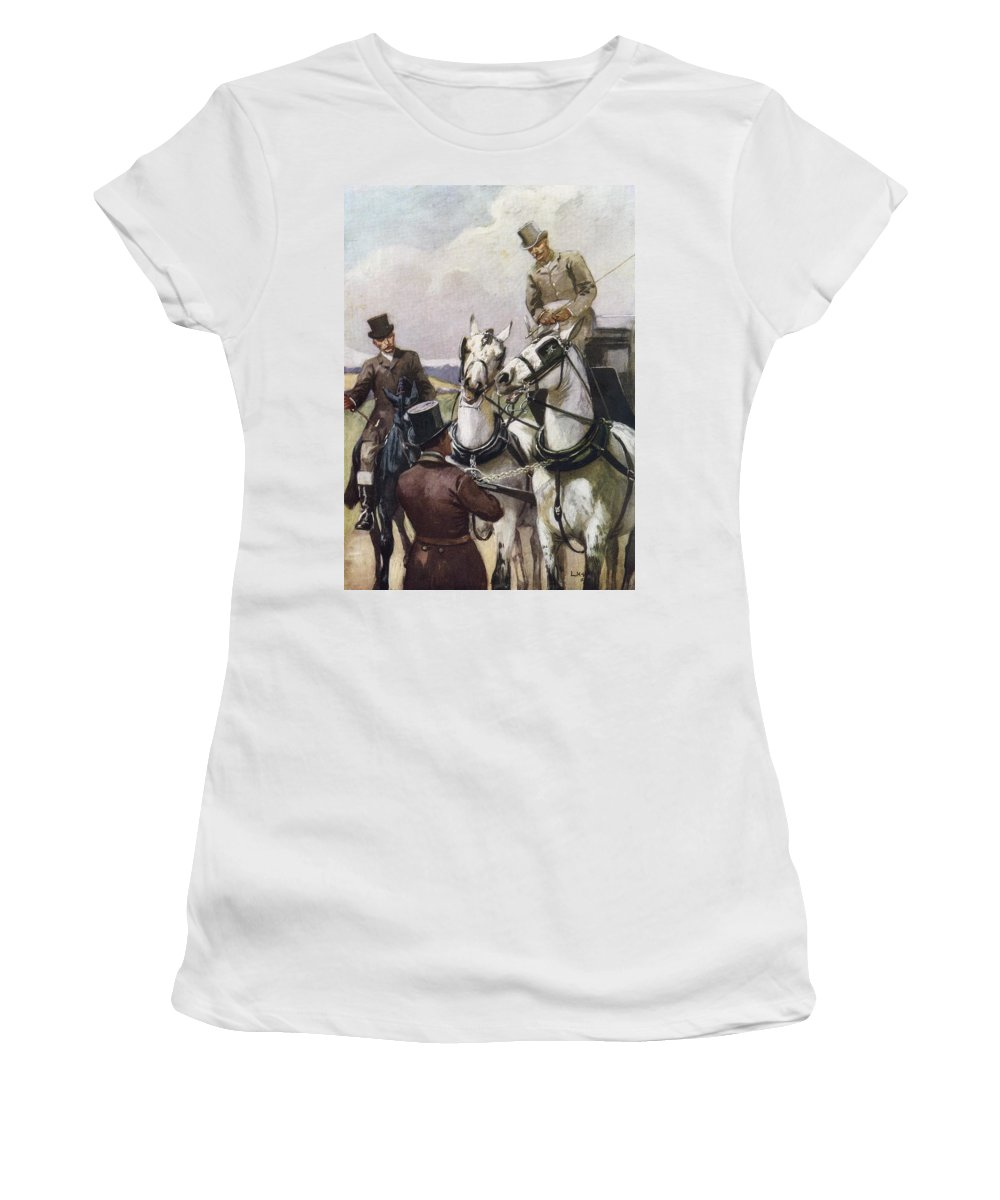 Handsome Women's T-Shirt (Athletic Fit) featuring the photograph A Handsome Pair. Illustration By Lucy by Ken Welsh