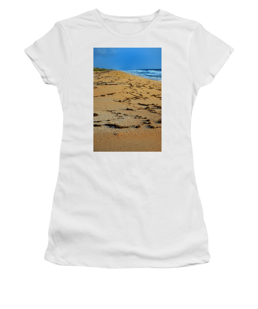 Florida Women's T-Shirt (Athletic Fit) featuring the photograph All Beach by Skip Willits