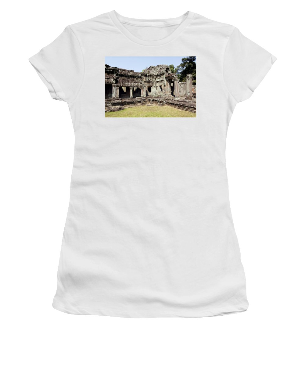 Ancient Women's T-Shirt (Athletic Fit) featuring the photograph Angkor Archaeological Park by Gloria & Richard Maschmeyer