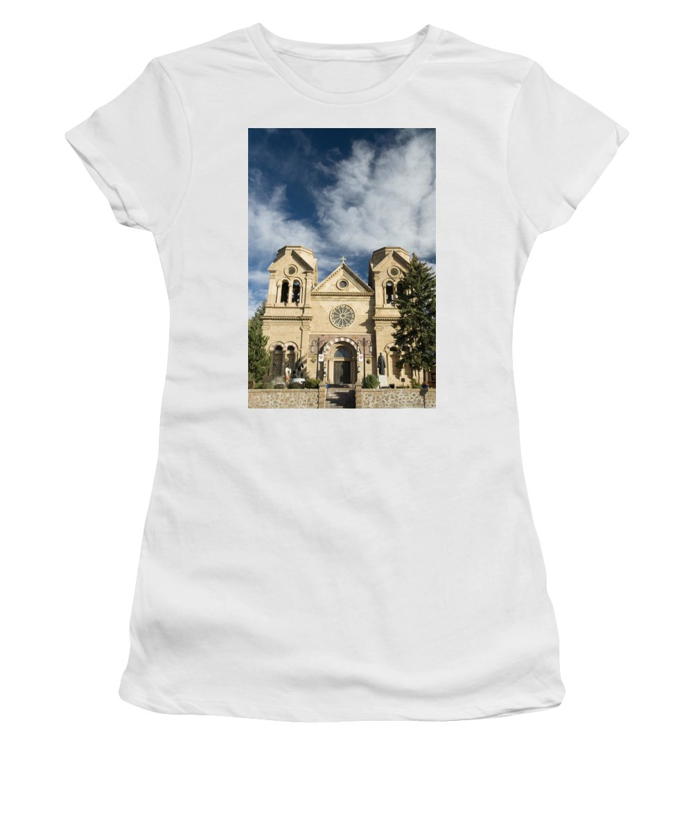 America Women's T-Shirt (Athletic Fit) featuring the photograph Basilica Of St Francis by Gloria & Richard Maschmeyer