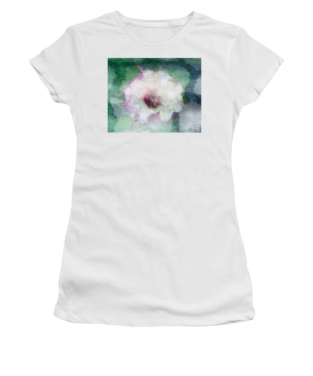 Belladonna Women's T-Shirt featuring the photograph Belladonna by Diana Haronis