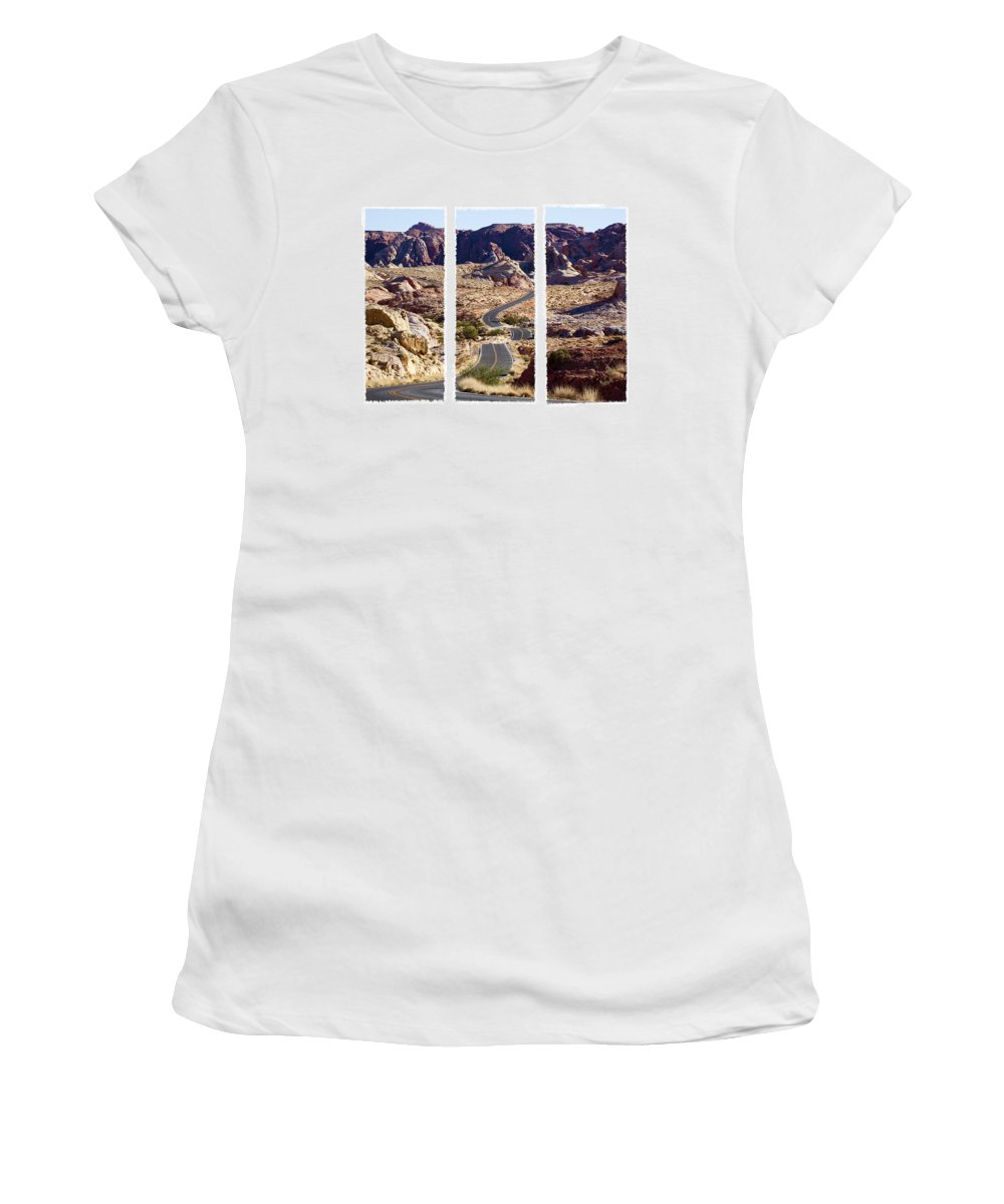 Valley Road Women's T-Shirt (Athletic Fit) featuring the photograph Big Dip by Kelley King