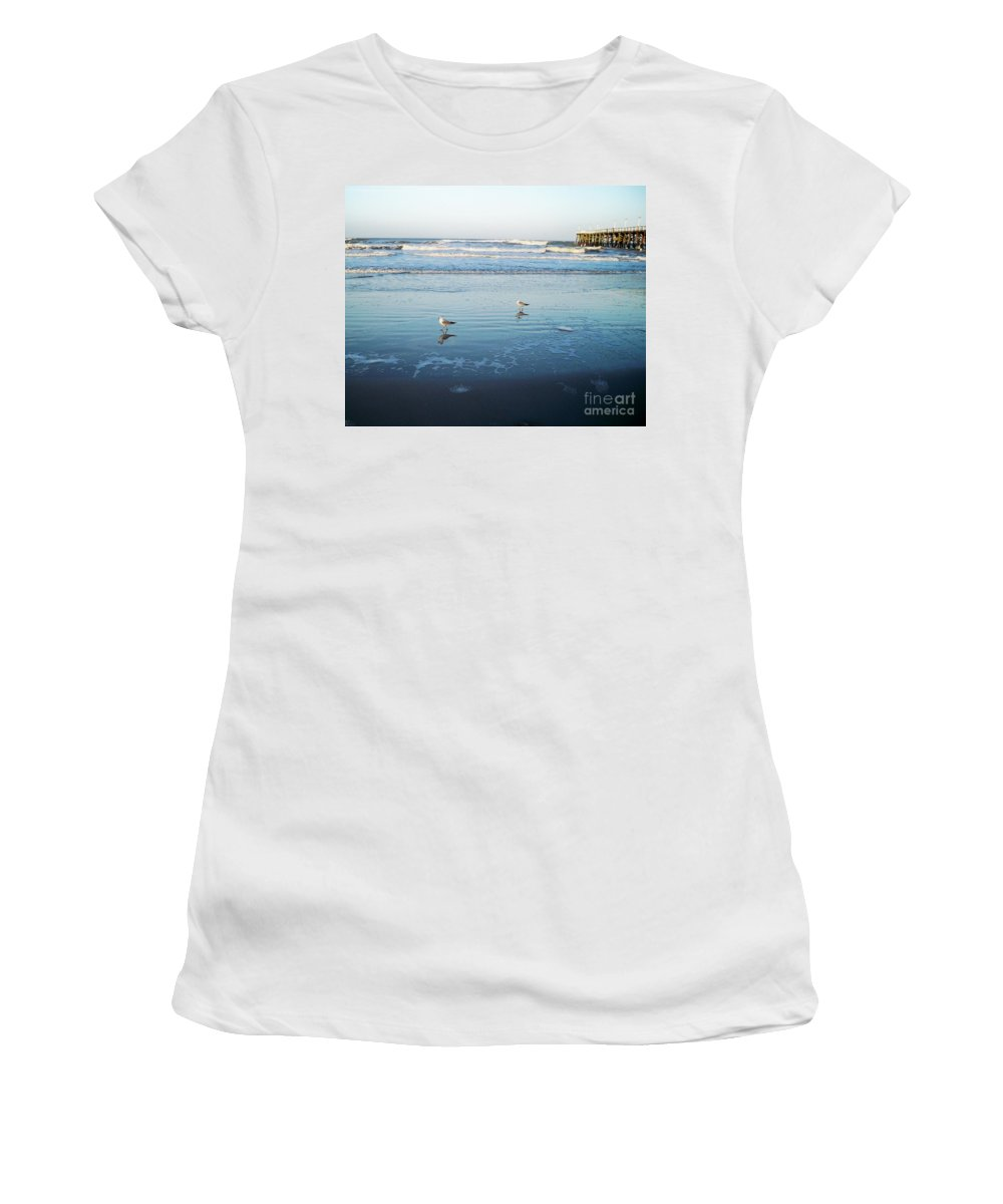 Florida Women's T-Shirt (Athletic Fit) featuring the photograph Birds At Dusk Vanilla Pop by Chris Andruskiewicz