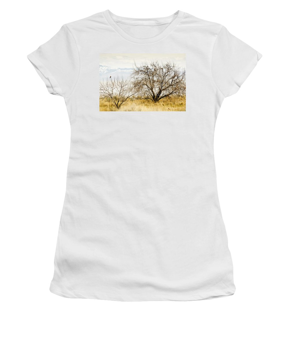 Birds Women's T-Shirt (Athletic Fit) featuring the photograph Birds Of A Feather by Marilyn Hunt