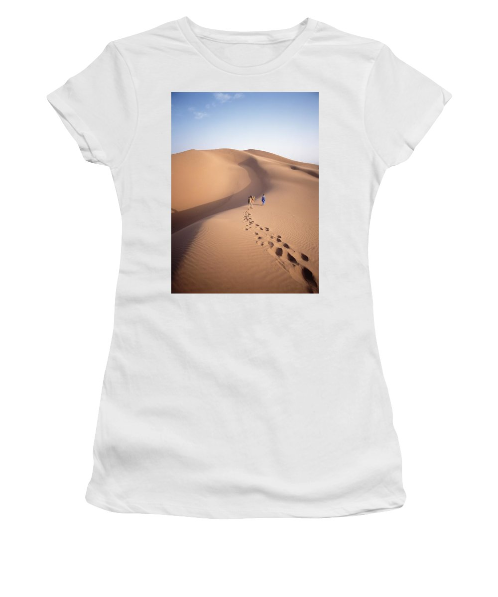 Rural Women's T-Shirt (Athletic Fit) featuring the photograph Blue Man, Historically A Tribe Of by Axiom Photographic