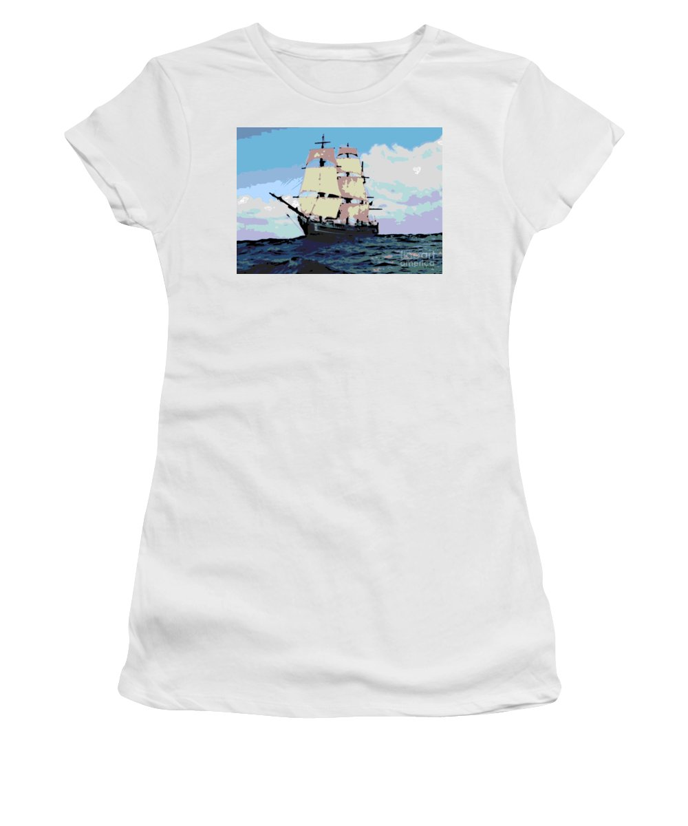 Boat Women's T-Shirt featuring the photograph Bounty by George Pedro