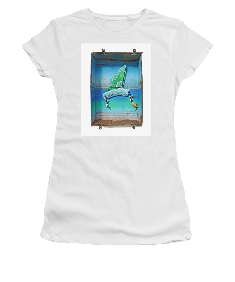 Sail Women's T-Shirt (Athletic Fit) featuring the painting Boxing The Compass by Charles Stuart