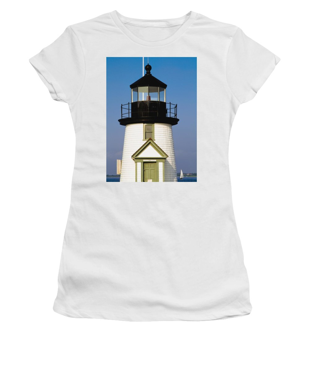 Vertical Women's T-Shirt (Athletic Fit) featuring the photograph Brant Point Lighthouse by Axiom Photographic