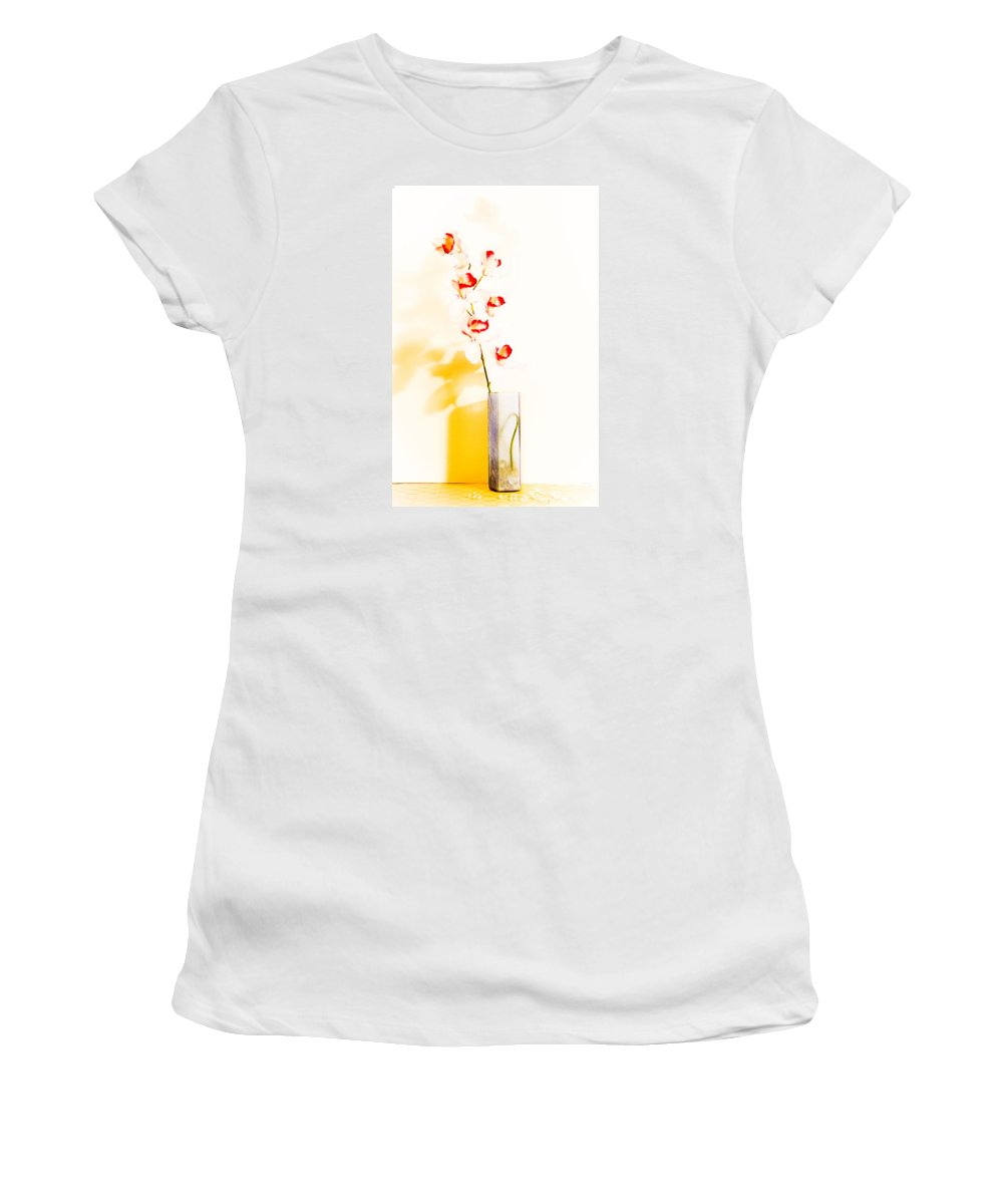 Flowers Women's T-Shirt (Athletic Fit) featuring the photograph By The Window by Shani Soils