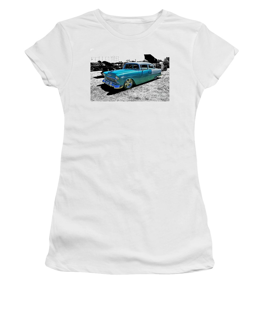 Cars Women's T-Shirt (Athletic Fit) featuring the photograph Cadp0736-12 by Randy Harris