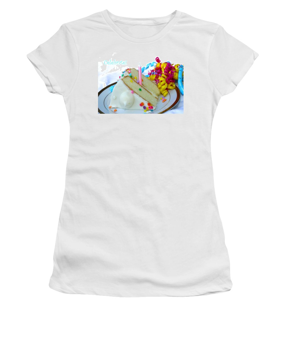 Birthday Women's T-Shirt (Athletic Fit) featuring the photograph Celebrate by Diana Haronis