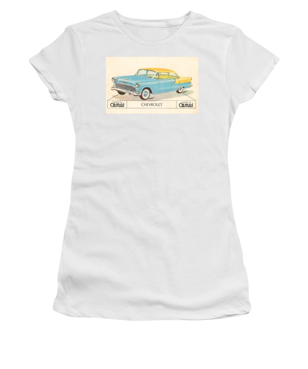 Chevrolet Women's T-Shirt (Athletic Fit) featuring the digital art Chevrolet by Georgia Fowler