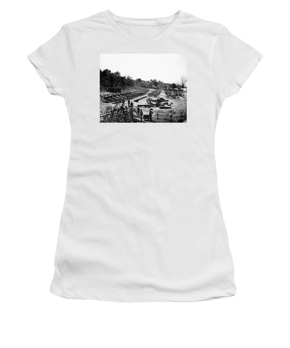 1864 Women's T-Shirt featuring the photograph Civil War: Artillery by Granger