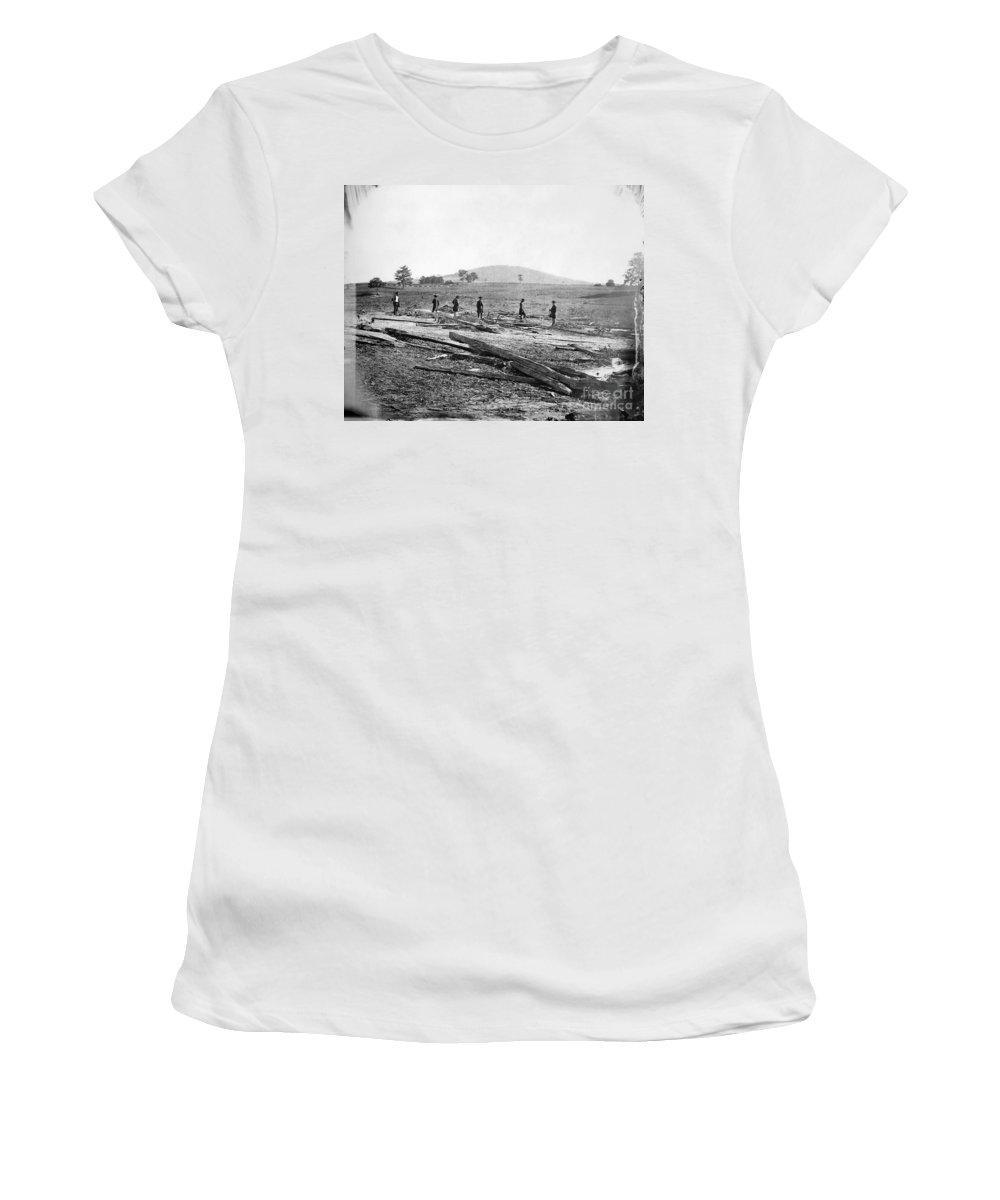 1862 Women's T-Shirt featuring the photograph Civil War: Graves, 1862 by Granger