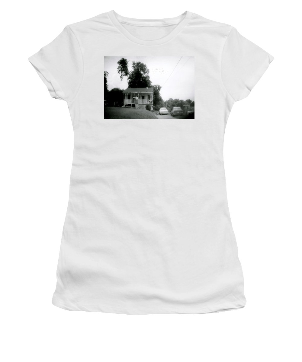 Louisiana Women's T-Shirt (Athletic Fit) featuring the photograph Clothesline On The Porch by Doug Duffey