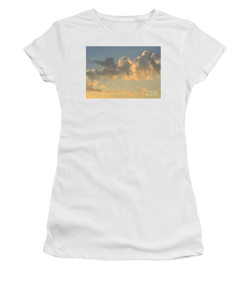 Clouds Women's T-Shirt (Athletic Fit) featuring the photograph Clouds Of White Light by Maria Urso