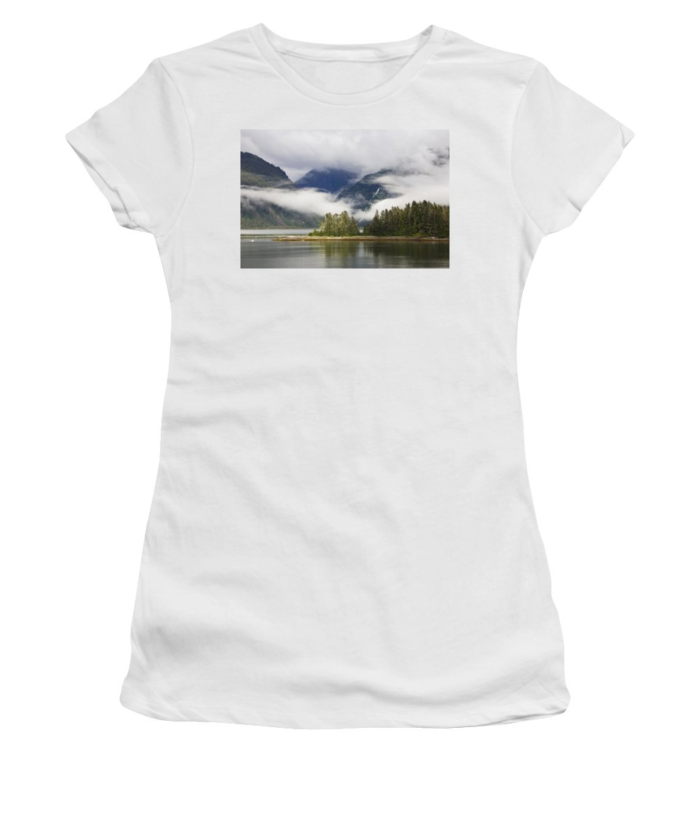 Mp Women's T-Shirt featuring the photograph Coastline, Endicott Arm, Inside by Konrad Wothe