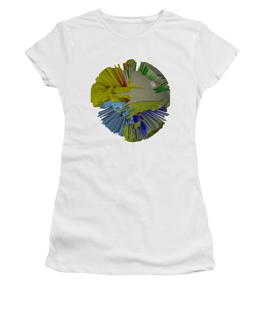 Digital Art Digital Art Women's T-Shirt (Athletic Fit) featuring the digital art Comic Book Convention by Robert Margetts