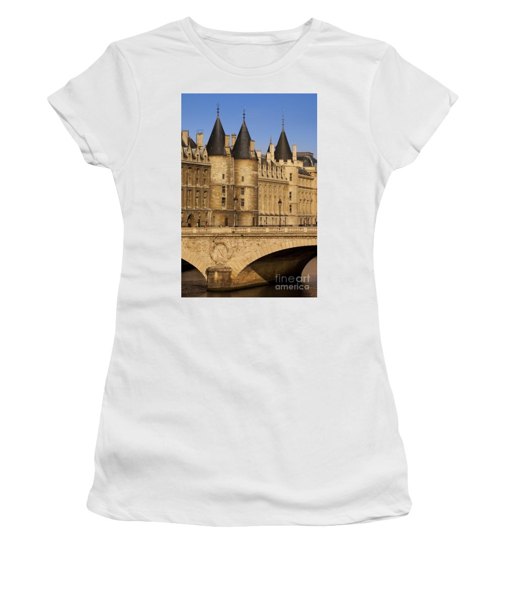 River Women's T-Shirt (Athletic Fit) featuring the photograph Conciergerie by Brian Jannsen
