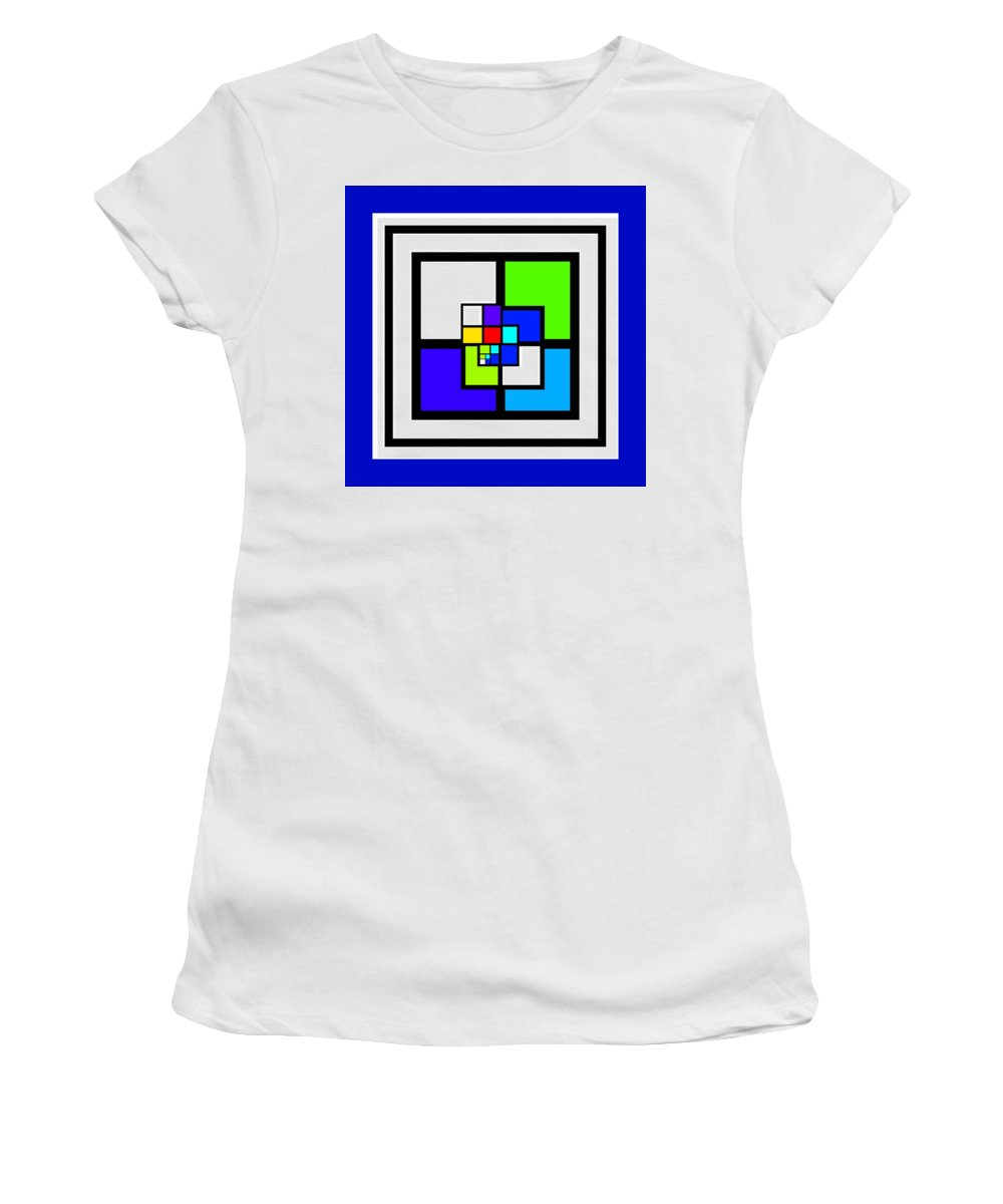 Cote Women's T-Shirt featuring the painting Cool Blue by Charles Stuart