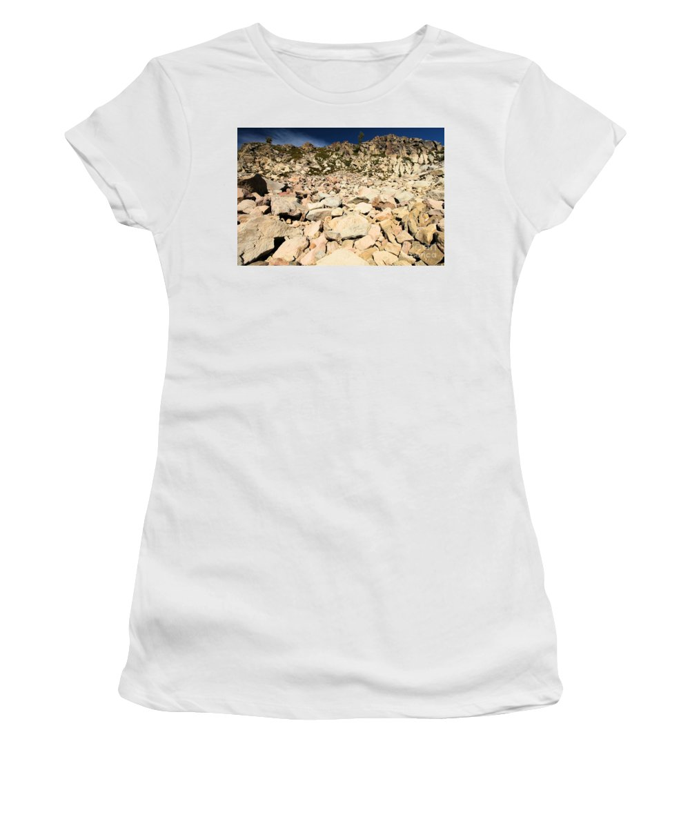 Lassen Volcanic National Park Women's T-Shirt (Athletic Fit) featuring the photograph Devastation by Adam Jewell
