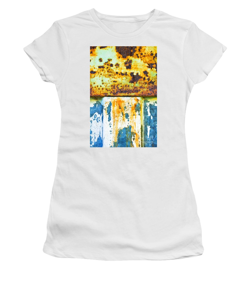 Rust Women's T-Shirt (Athletic Fit) featuring the photograph Division II by Silvia Ganora
