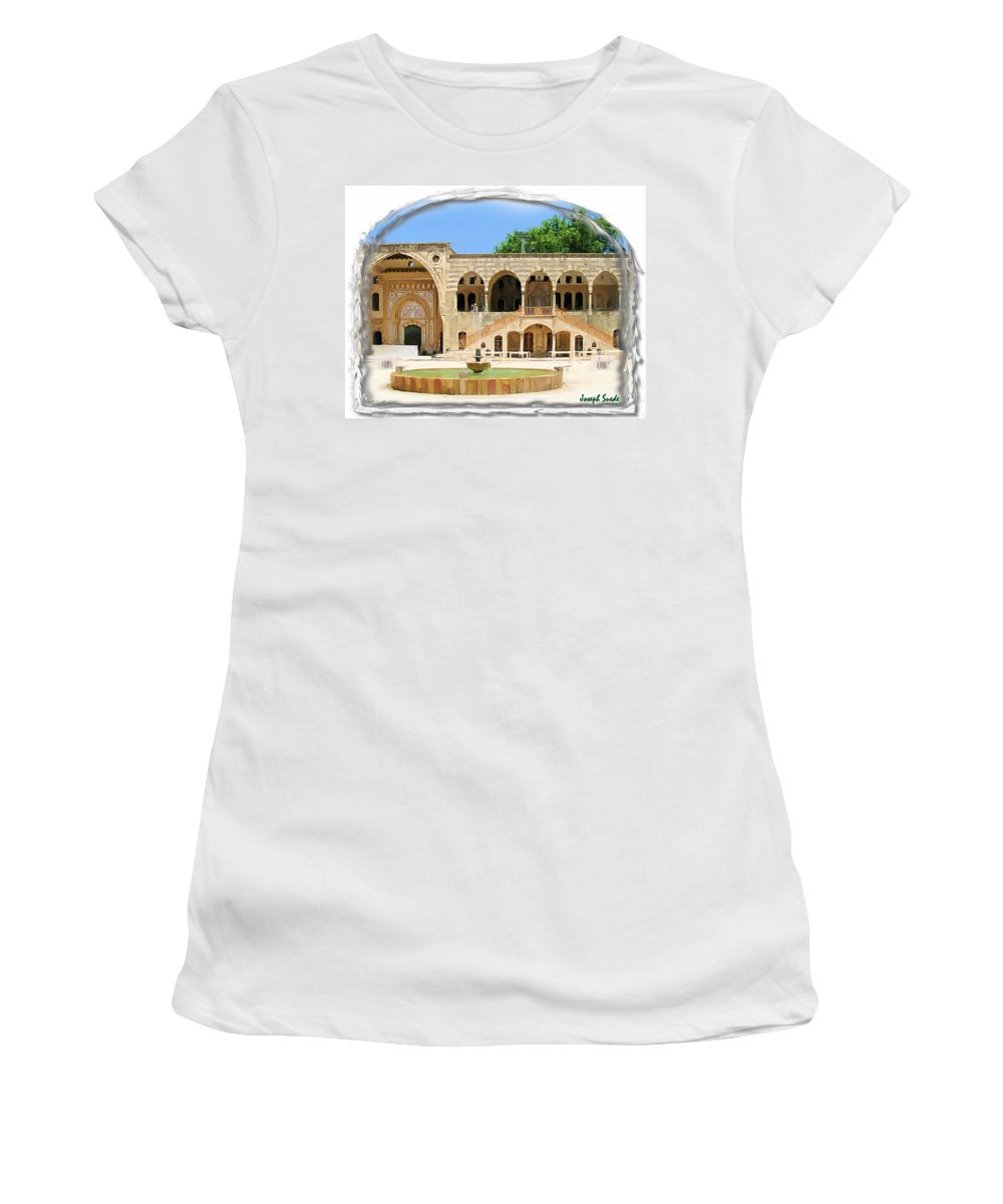 Palace Women's T-Shirt (Athletic Fit) featuring the photograph Do-00522 Emir Bechir Palace by Digital Oil
