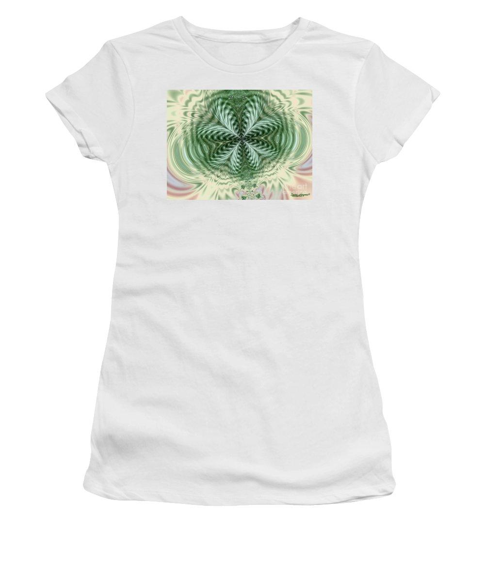 Women's T-Shirt featuring the digital art Don't Worry by Dana Haynes