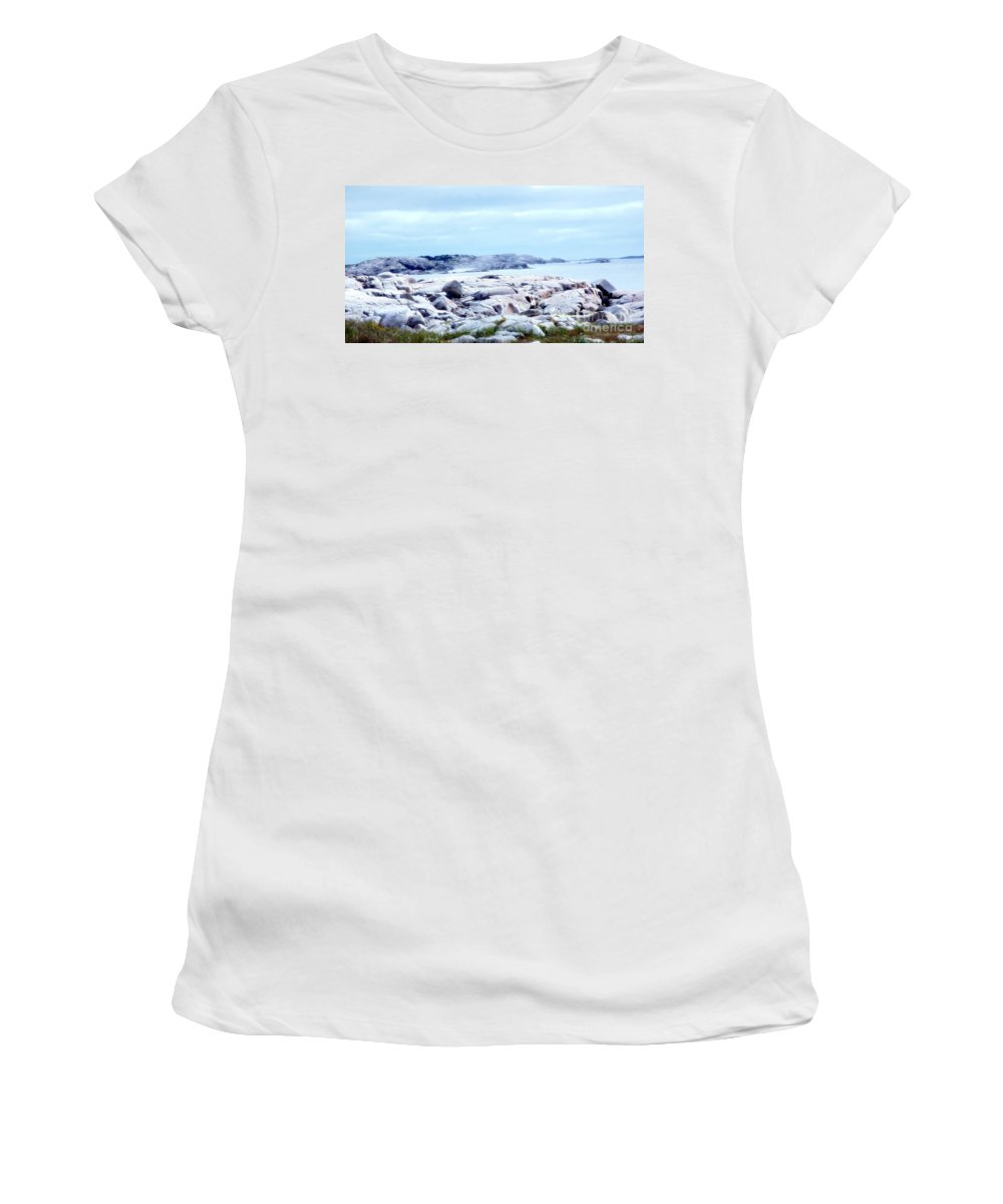 Dreamy Women's T-Shirt (Athletic Fit) featuring the photograph Dreamy Coastal Scene by Kathleen Struckle